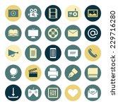 flat design icons for media....