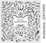 set of calligraphic design... | Shutterstock .eps vector #229719493