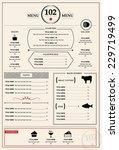 menu design template.... | Shutterstock .eps vector #229719499