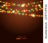holiday background with colored ... | Shutterstock .eps vector #229719916