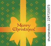 green christmas gift card with... | Shutterstock .eps vector #229725373