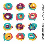 kitchenware bubble speech flat... | Shutterstock .eps vector #229726060