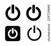 vector black shut down icons... | Shutterstock .eps vector #229729840