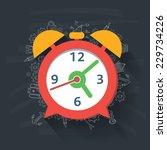 clock concept on blackboard... | Shutterstock .eps vector #229734226