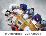 diverse business people working ... | Shutterstock . vector #229735039