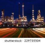 beautiful lighting of oil... | Shutterstock . vector #229735504
