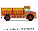 the old jingle truck. vector... | Shutterstock .eps vector #229738024