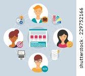web development concept  ... | Shutterstock .eps vector #229752166