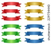 different colored ribbons | Shutterstock .eps vector #229754440