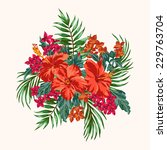 Bouquet Of Tropical Flowers An...
