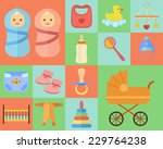 baby icons set made in flat... | Shutterstock .eps vector #229764238