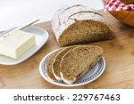 homemade loaf of rye bread... | Shutterstock . vector #229767463
