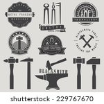 blacksmith labels and shop... | Shutterstock .eps vector #229767670