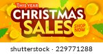 yellow christmas sale banner.... | Shutterstock .eps vector #229771288