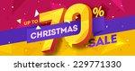 christmas sale banner. vector | Shutterstock .eps vector #229771330