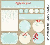 collection christmas labels and ... | Shutterstock .eps vector #229772260