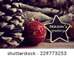 the text seasons greetings... | Shutterstock . vector #229773253