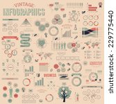 vintage infographics with data... | Shutterstock .eps vector #229775440