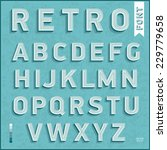 flat design type font  vintage... | Shutterstock .eps vector #229779658