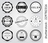 set of hipster vintage retro... | Shutterstock .eps vector #229782316