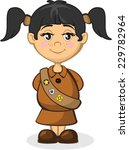 cute girl scout with pigtails | Shutterstock .eps vector #229782964