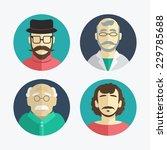 illustration of flat design men ... | Shutterstock .eps vector #229785688