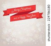 postcard merry christmas. beige ... | Shutterstock .eps vector #229786180