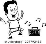 a happy cartoon child dancing... | Shutterstock .eps vector #229792483