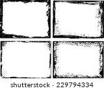 grunge frame set. vector... | Shutterstock .eps vector #229794334