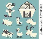 Farm Animals Vector...