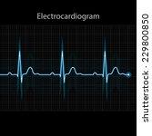 electrocardiogram 2d... | Shutterstock .eps vector #229800850