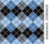 argyle design in blue and black ...   Shutterstock .eps vector #229806634