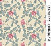 roses seamless pattern | Shutterstock .eps vector #229807594
