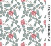 roses seamless pattern | Shutterstock .eps vector #229807699