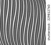Pattern Wheat Ear Blowing In The Wind - stock photo