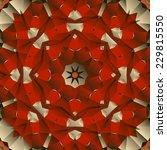 Red Seamless Mandala Vector...