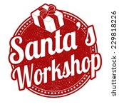 santa's workshop grunge rubber... | Shutterstock .eps vector #229818226
