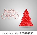 modern abstract christmas tree... | Shutterstock .eps vector #229828150