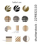 collection of sun blinds icons  ... | Shutterstock .eps vector #229832110