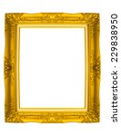 old antique gold frame on... | Shutterstock . vector #229838950