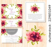wedding invitation cards with... | Shutterstock .eps vector #229851049