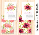wedding invitation cards with... | Shutterstock .eps vector #229851070