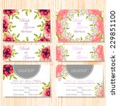 wedding invitation cards with... | Shutterstock .eps vector #229851100