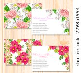 wedding invitation cards with... | Shutterstock .eps vector #229851994