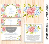 wedding invitation cards with... | Shutterstock .eps vector #229852000