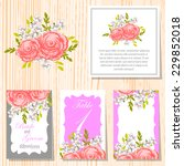 wedding invitation cards with... | Shutterstock .eps vector #229852018