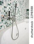 modern chrome tap in a green...   Shutterstock . vector #2298588