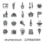 food and drinks icons | Shutterstock .eps vector #229860484