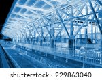 tracks and warehouse in a... | Shutterstock . vector #229863040