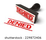 a rubber stamp with denied in... | Shutterstock . vector #229872406
